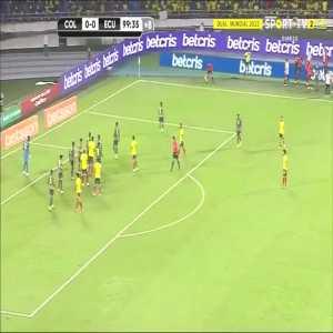 Yerry Mina disallowed goal vs Ecuador + VAR revision 100' | CONMEBOL WC Qualifiers