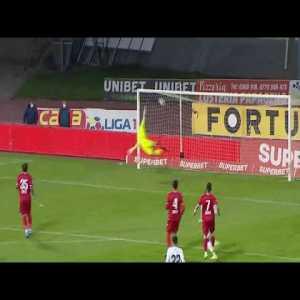 Incredible 2 goals in 2 minutes from Ronaldo Deaconu vs Dinamo Bucharest (Liga 1 Romania)