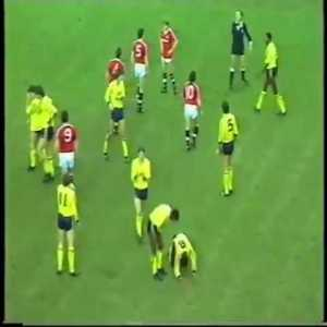 Man Utd 2-0 Arsenal 1986-87, the game that started the Rivalry. Fact:  Gordon Strachan played for United