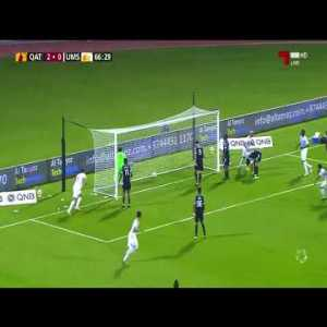 "Brazil's Isael Barbosa (Umm Salal) ""Olimpico"" goal straight from corner kick in the Qatari league !"