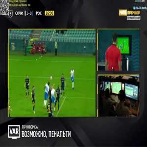 Sochi 2-0 FK Rostov - Christian Noboa penalty 28'