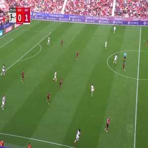 Leverkusen 0-2 Bayern Munich: Robert Lewandowski 30'
