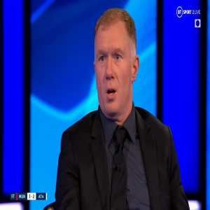 """[Football on BT Sport] """"Go and do that against Liverpool on Sunday, see what happens. Imagine Jurgen Klopp watching that at home, rubbing his hands together."""" Paul Scholes won't let a late Ronaldo winner paper over the cracks of that first-half performance from Man Utd."""