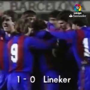 [LaLigaTV] Gary Lineker was the last European player to score a hat-trick in El Classico, way back in January 1987