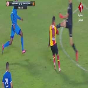 CAF Champions League: Ittihad Tripoli goalkeeper Muad Ellafi straight red card for a boot to the face of Esperance's Hamdou Elhouni
