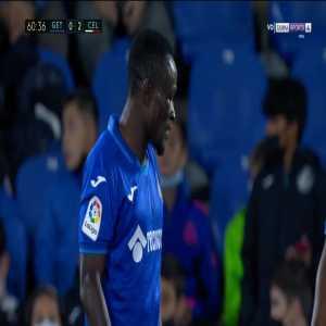 Djene (Getafe) straight red card against Celta Vigo 63'