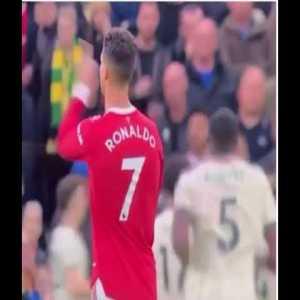 Ronaldo mocking Oles tactics after Liverpool scored
