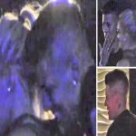 Manchester United star Marcos Rojo seen smoking and biting blonde woman's dress outside nightclub in Argentina