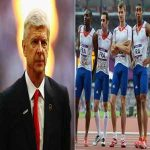 Fact: Arsene Wenger did a talk for the French 4 x 100m 2012 Olympics teams - the men finished fourth.