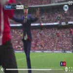 Alan Pardew's little jig at Palace 1-0 ManU FA Cup Final
