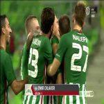 Emir Dilaver's (Ferencváros, Hungary) goal vs. DVTK
