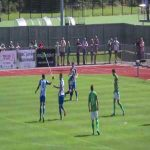 A remarkable wind-assisted goal from the FA Cup Preliminary Round game between Guernsey vs Thamesmead Town