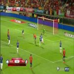 Diego Costa scores against Liechtenstein (5-0)