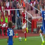 Mesut Ozil no look pass vs Chelsea