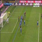 Gabriel Paletta puts Milan into the lead (4-3)