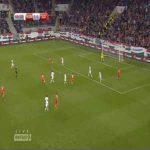 Ricardo Rodriguez (Switzerland) goal against Hungary (1-2)