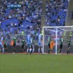 Ciro Immobile smacks the ball into the net for Lazio's second vs Sassuolo (2-0)