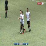 Niclas Kuehn (Germany U-17s) scores a long range deflection goal against Iceland U-17s