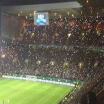 Celtic fans tribute to the Lisbon Lions in the 67th minute