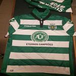 Sporting clube de Portugal jerseys for tonight's game against Vitória FC in honor of Chapecoense