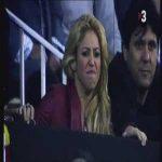 Shakira watching El Clasico