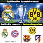 Real Madrid vs Borussia Dortmund 😍😍