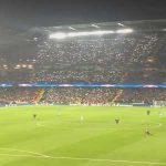 The Celtic fans all around the Etihad last night