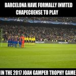 Barcelona will play Chapecoense in a charity game! Class.
