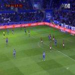 Daniel Torres (Alaves) goal against Gimnastic (3-0)