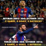 Neymar hasn't scored a goal since 20th October 😱