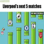 Liverpool's next 5 matches