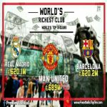 Manchester United return to top of football rich list, ending Real Madrid. 11-year hold on first place