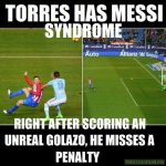 Torres caught the Messi bug.