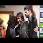 Diego Costa and David Luiz remove Antonio Conte from his press conference