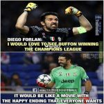 True Football Fans Also Want Buffon win This UCL 🏆😍
