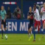 Gideon Jung (Hamburg) straight red card against Bayern