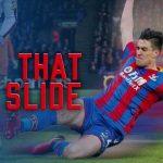 Martin Kelly loves to slide