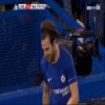 Willian elastico pass to Cesc Fabregas against Hull