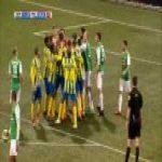 FC Dordrecht - RKC Waalwijk | Keeper tries bicycle kick