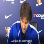 Conte's wife calls him mid press conference