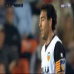 Daniel Parejo (Valencia) straight red card against Getafe