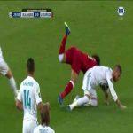 Salah goes down awkwardly vs Real Madrid
