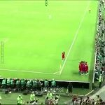 During Cristiano's hat-trick celebration, all of the Portuguese players were celebrating with him except for one who had to stay inside the pitch as FIFA states if all are off the pitch during celebrations, the opposing team can kickoff the game. (One apart from the GK)