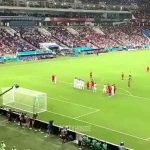During Cristiano's hat-trick celebration, all Portuguese players were celebrating with him except one who had to stay inside the pitch as FIFA states if all 'outfield players' are off the pitch during celebrations, opposing team can kickoff the game.