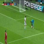 Diego Costa mauls the Iranian Goalkeeper