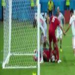 Iran's goal line scramble