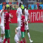 Pepe over reacting vs Morocco