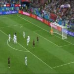Ivan Rakitic Hit The Crossbar With Freekick