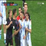 Tempers flare at Argentina vs Croatia