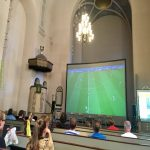 World Cup in a Helsinki church
